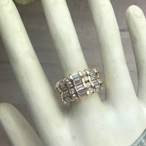 Suzanne Somers | Double Baguette & Round CZ Ring